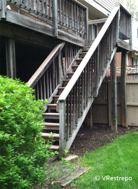 Acabados de escaleras en maderas en exteriores - Escaleras de exterior ...