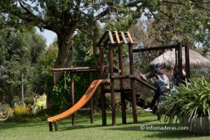 Protección de parques infantiles en madera