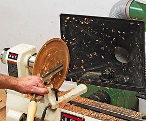 Productos novedosos para trabajar la madera: Aspiradora de aserrín para tornos