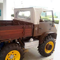 Unimog de Mercedez-Benz tratado con productos Profilan